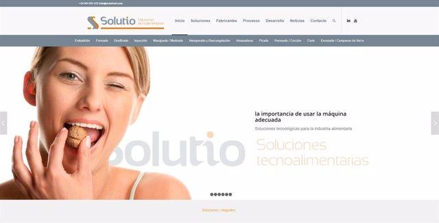 Nueva web de la empresa Solutio