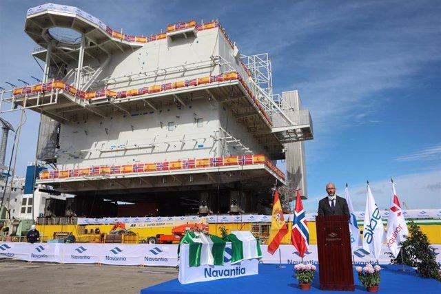 Entrega del módulo HVDC del proyecto Johan Sverdrup Fase 2, para Aibel y Equinor en Navantia Puerto Real