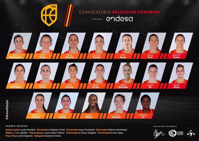 Baloncesto/Selección.- Mondelo cita a 19 jugadoras en la primera concentración p