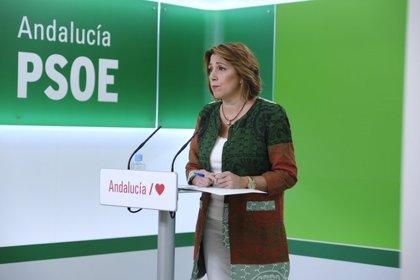 """Susana Díaz: Moreno debe elegir si """"seguir siendo rehén"""" de Vox o """"coger la mano sincera"""" del PSOE-A para el Presupuesto"""