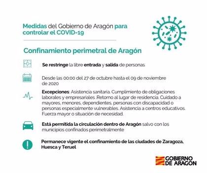 Aragón se confina de forma perimetral desde este martes