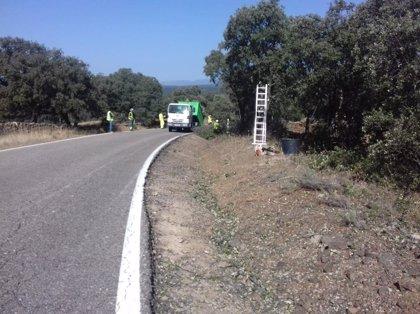 La Junta ha invertido más de 24.600 euros en Córdoba en mejorar la seguridad en la A-3200, de Azuel a Santa Eufemia