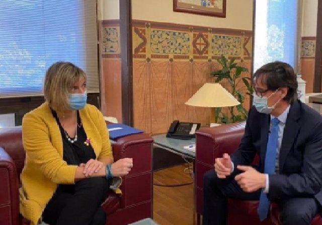 El ministro de Sanidad, Salvador Illa, se  reúne con la consellera de Salut de la  Generalitat de Cataluña, Alba Vergés.