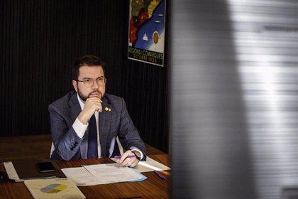 """Aragonès ve """"insuficiente"""" que las comunidades ejecuten el 50% de los fondos europeos"""
