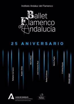 El Ballet Flamenco de Andalucía lleva al Teatro Cervantes de Málaga su espectáculo '25 aniversario'