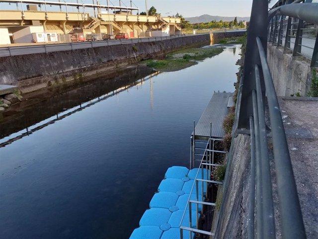 Río Piles, a su paso por el embarcadero del anillo navegable
