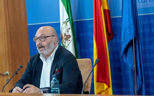 El portavoz parlamentario de Vox en Andalucía, Alejandro Hernández, en una foto de archivo.