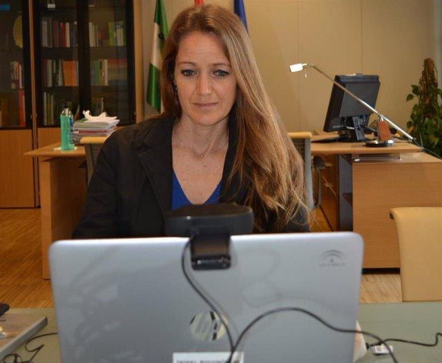 La delegada de Empleo y Economía de la Junta en Granada, Virginia Fernández, en imagen de archivo