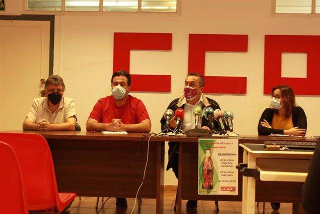 Rueda de prensa de CCOO en Málaga