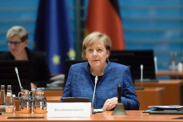 21 d'octubre del 2020, Berlín: la cancellera alemanya, Angela Merkel. Foto: Markus Schreiber/AP-Pool/dpa