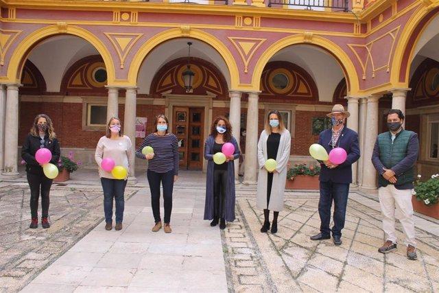 Acto del Día de la Intersexualidad en el Ayuntamiento de Huelva.
