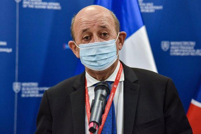 El ministro de Exteriores de Francia, Jean-Yves Le Drian