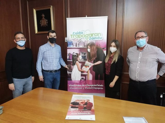 Presentación de la campaña de apoyo al comercio, hostelería y servicios locales de Trapagaran