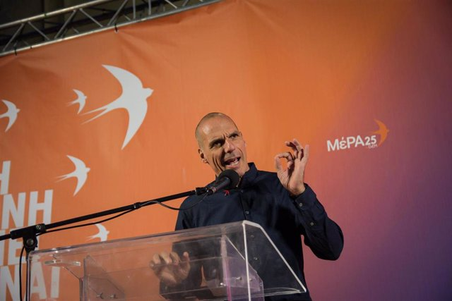 Yanis Varoufakis, Greek former Finance Minister and candidate for DiEM25-MeRA25 speaks during an electoral campaign event ahead of the 2019 Greek legislative election, slated for 07 July 2019. Photo: Nikolas Joao Kokovlis/SOPA Images via ZUMA Wire/dpa