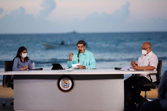 Nicolas Maduro en un acto gubernamental en La Guaira