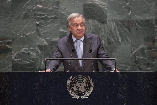 """ONU.- Guterres subraya que la misión de Naciones Unidas es """"más importante que n"""