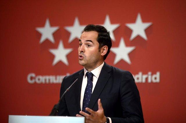 El vicepresidente, consejero de Deportes, Transparencia y portavoz, Ignacio Aguado