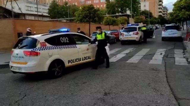 Actuación de la Policía Local de Córdoba en una imagen de archivo.