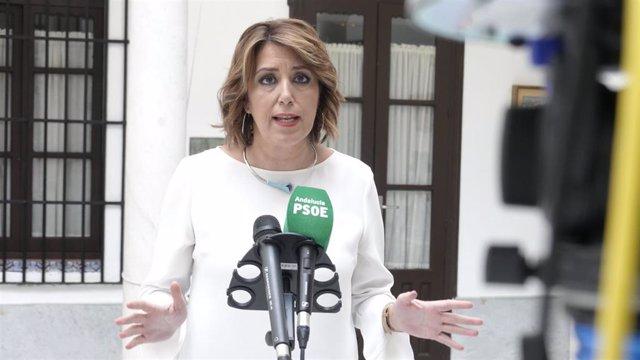 Susana Díaz, este martes en Sevilla