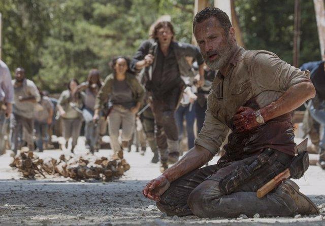 Rick Grimes en su último capítulo en The Walking Dead