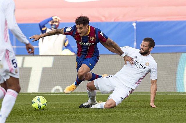 Fútbol/Champions.- Coutinho y Piqué, ausencias de peso en el Barça para Turín
