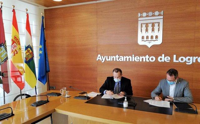 UNIR y Logroño Deporte firman un acuerdo para la cesión y uso de las instalaciones deportivas municipales con fines docentes