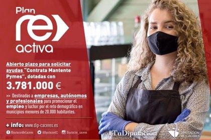 La Diputación de Cáceres abre el plazo para solicitar las ayudas a pymes, dotadas con 3,7 millones de euros