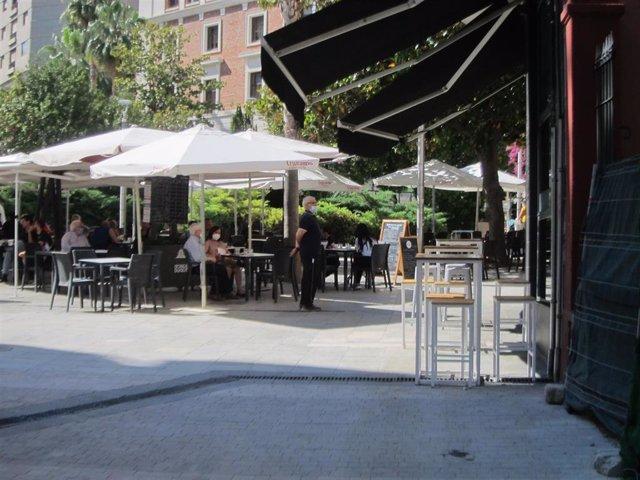 Imagen de archivo de la terraza de un establecimiento de Jaén.