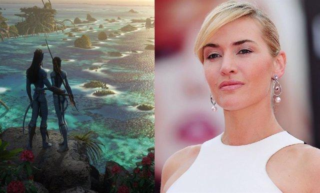 Kate Winslet en el rodaje de Avatar