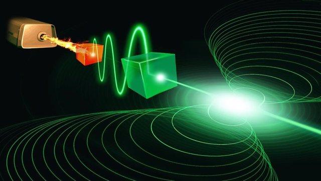 Concepción del artista de un dispositivo superconductor que podría realizar un láser operando en el límite cuántico final
