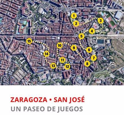 """""""Un paseo con juegos"""" ofrece trazados de 15 juegos en 24 barrios de Zaragoza para público infantil y familiar"""