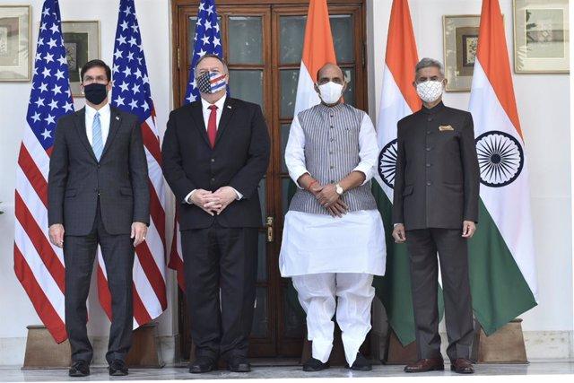 India/EEUU.- India y EEUU firman un acuerdo en materia de defensa ante el aument