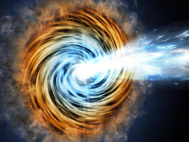 Hallado el agujero negro más lejano de una rara familia de galaxias