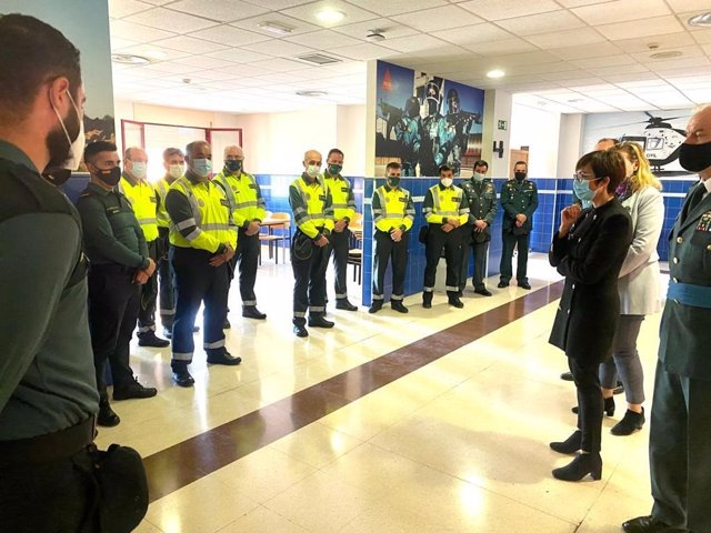 La directora general de la Guardia Civil, María Gámez, durante una visita a Extremadura