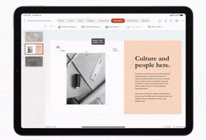 Word, Excel y PowerPoint añaden el soporte para 'trackpad' y ratón en su versión para iPad