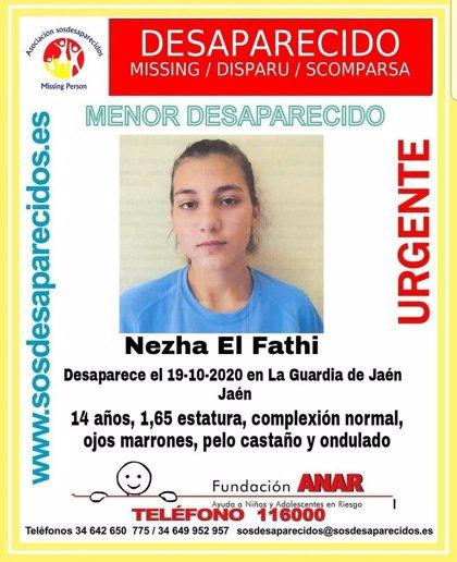 Sucesos.- Alertan de la desaparición de una menor en La Guardia de Jaén