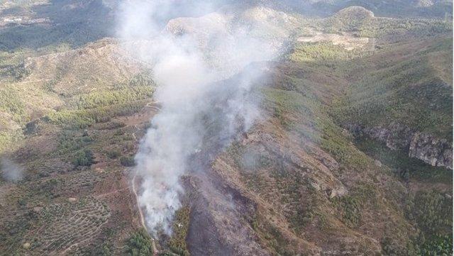L'incendi en la serra de Tivissa (Tarragona), ja extingit.