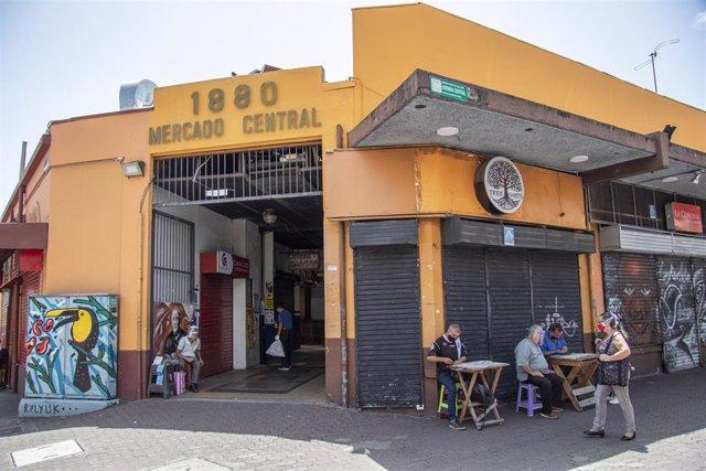 Entrada al Mercado Central en San José, Costa Rica