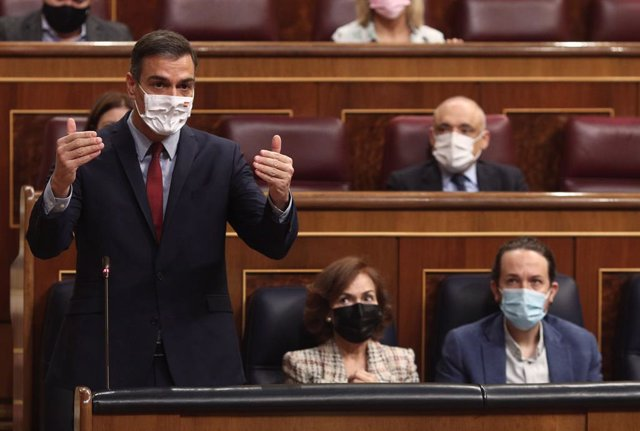 El president del Govern central, Pedro Sánchez, al Congrés dels Diputats. Madrid, (Espanya), 28 d'octubre del 2020.