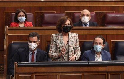 Calvo dice que Sánchez es quien más se ha sometido a control de la historia y que Rajoy no acudió en siete meses
