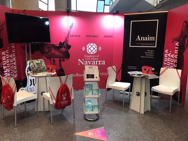 Stand de Navarra en el Bilbao International Music Experience