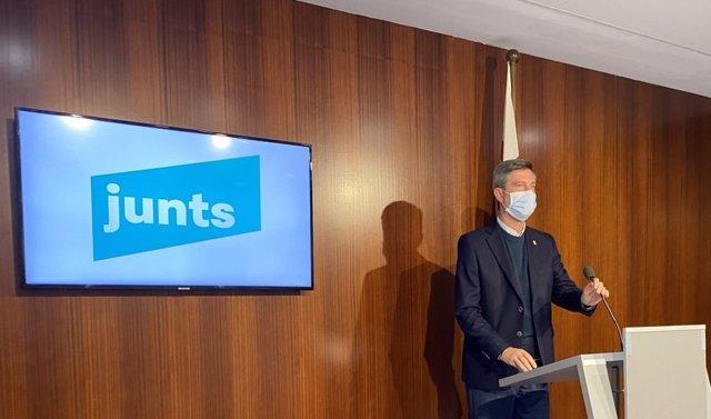El portaveu del grup municipal de JxCat a Barcelona, Jordi Martí.