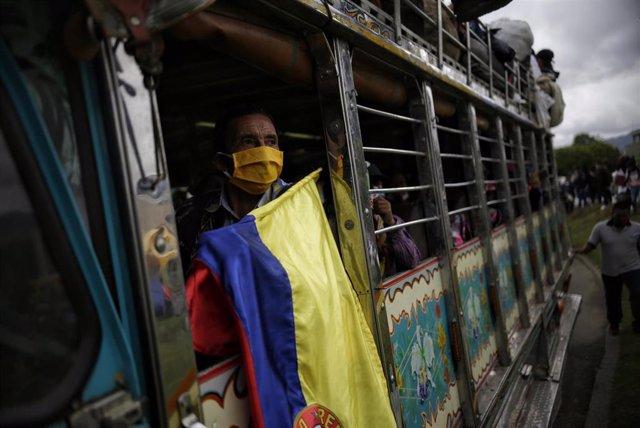 Miembros de las comunidades indígenas durante una reciente protesta en Colombia