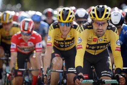 La Policía Nacional ha dado protección y seguridad en la salida de la 8ª etapa de la Vuelta Ciclista desde Logroño