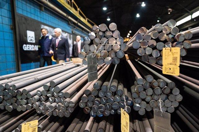 US Vice President Pence visits Gerdau Ameristeel steel mill