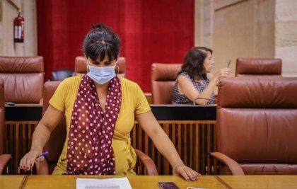 El Parlamento, con votos de PSOE, PP y Vox, expulsa a Teresa Rodríguez y otros siete diputados del grupo de Adelante