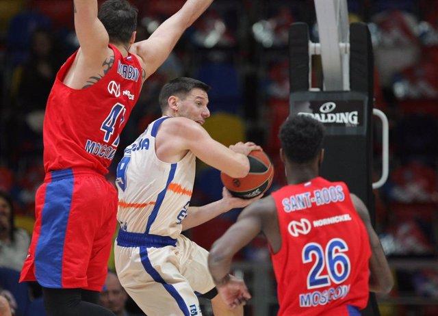 Baloncesto/Euroliga.- Previa del CSKA Moscú - Valencia Basket