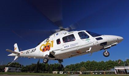 Rescatado en helicóptero un senderista tras sufrir una caída en Níjar (Almería)