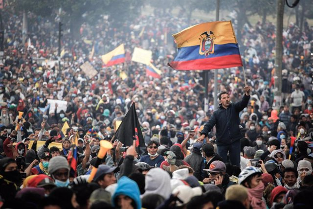 Imagen de archivo de las protestas que sacudieron Ecuador en octubre del año pasado.