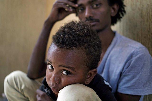 Unicef niño desarraigado en África